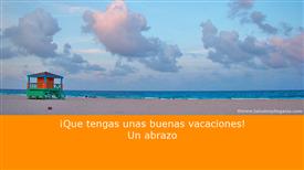 Tarjetas postales: Buenas vacaciones y abrazo