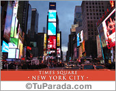 Tarjetas postales: Foto de Times Square - New York City