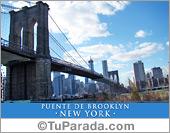 Tarjetas postales: Foto del Puente de Brooklin