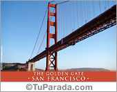 Tarjetas postales: Foto The Golden Gate - San Francisco