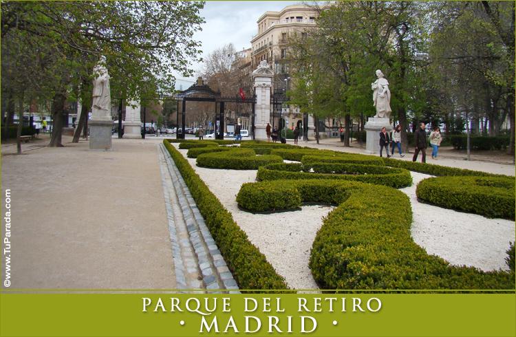 Foto del parque del retiro madrid fotos de espa a tarjetas for Parques de madrid espana