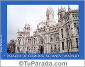 Tarjetas postales: Palacio de Comunicaciones - Madrid