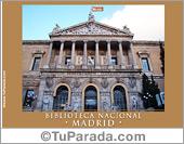 Tarjetas postales: Foto de la Biblioteca Nacional de Madrid