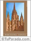 Tarjetas postales: Foto de la Catedral de Barcelona