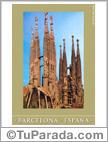 Tarjetas postales: Foto de la Sagrada Familia en Barcelona