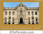 Tarjetas, postales: Foto del Palacio de gobierno - Perú
