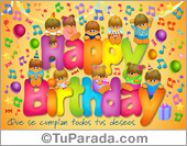Tarjeta de Happy birthday