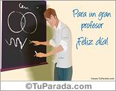 Día del maestro - Tarjetas postales: Tarjeta Día del profesor