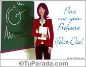 Día del maestro - Tarjetas postales: Tarjeta Día de la profesora
