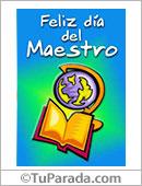 Tarjetas, postales: Feliz Día del Maestro.