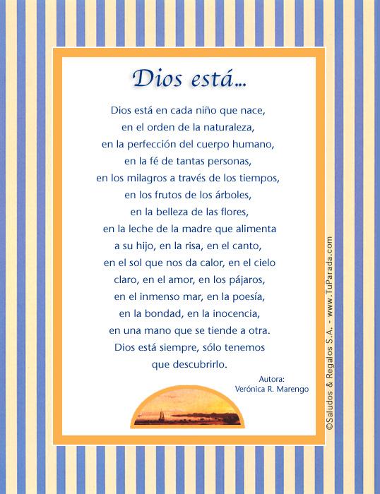 Tarjeta - Dios está...