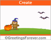 Halloween with friendly bear