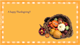 Ecards: A happy Thanksgiving