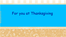 Ecards: Happy Thanksgiving