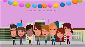 Tarjetas, postales: Día del amigo