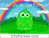 Tarjeta - Tarjeta de San Patricio con arco iris