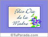 Tarjeta - Feliz día con flores color lila