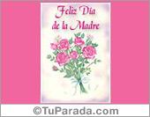 Tarjeta - Feliz día de la madre en rosa y lila