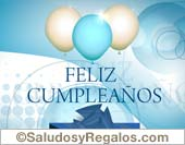 Tarjetas postales: Feliz cumpleaños con globos