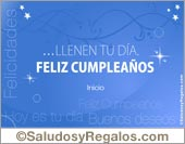Suegros - Tarjetas postales: Feliz cumpleaños azulino