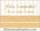 Tarjetas postales: Tarjeta de cumpleaños en beige