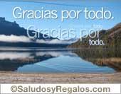Gracias - Tarjetas postales: Gracias por todo con lago