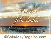 Tarjetas postales: Muchas felicidades con mar