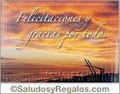 Tarjetas postales: Felicitaciones y gracias