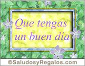 Tarjetas postales: Buen día con flores