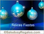 Felices Fiestas en varios idiomas.