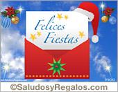 Tarjeta - Felices Fiestas en sobre