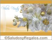 Felices fiestas - Árbol nevado