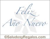 Feliz año nuevo - Tarjetas postales: Feliz año nuevo en blanco y celeste