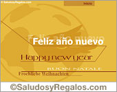 Tarjeta de Feliz año nuevo
