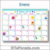 Calendario Multicolor 2017