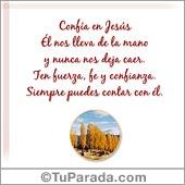 Tarjetas postales: Confía en Jesús
