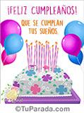 Imagen de feliz cumpleaños de torta con flores.