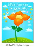 Tarjeta - Tarjeta con flor