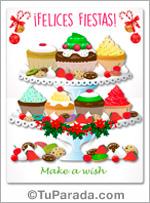 Felices fiestas con cupcakes