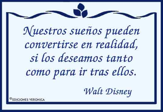 Tarjeta - Frase de Walt Disney