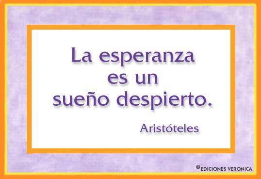 Tarjeta - Frase de Aristóteles