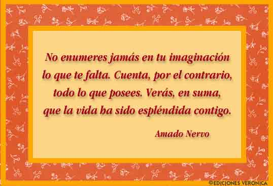 Tarjeta - Frase de Amado Nervo