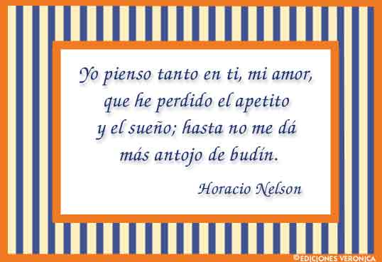 Tarjeta - Frase de Horacio Nelson