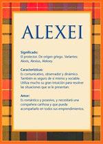 Origen y significado de Alexei