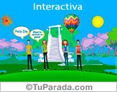 Tarjetas, postales: Tarjeta de amistad interactiva