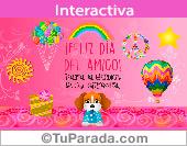 Tarjeta de Día internacional del amigo