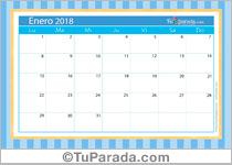 Calendario Deco - Enero 2018