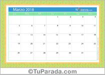 Calendario Deco - Marzo 2018