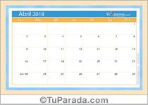 Calendario Deco - Abril 2018