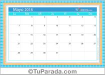 Calendario Deco - Mayo 2018